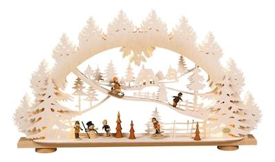 SAICO Original 3D - Lichterbogen Kinder im Schnee mit Raureif - Finish kaufen