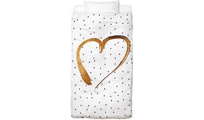 Juniqe Bettwäsche »Heart 1«, In vielen weiteren Designs erhältlich kaufen