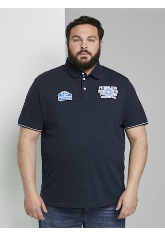 TOM TAILOR Men Plus Poloshirt »Poloshirt mit Patches« kaufen