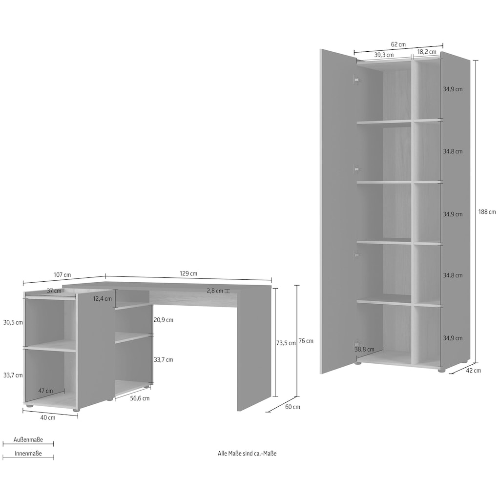 GERMANIA Büro-Set »GW-Austin«, (Set, 2-tlg.)