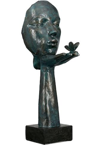 GILDE Dekofigur »Skulptur Desire, antikfinish«, Dekoobjekt, Höhe 34, Frau mit... kaufen