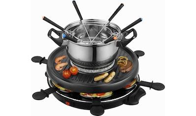 Team Kalorik Raclette und Fondue - Set TKG RAC 1010 FO, 6 Raclettepfännchen, 800 Watt kaufen
