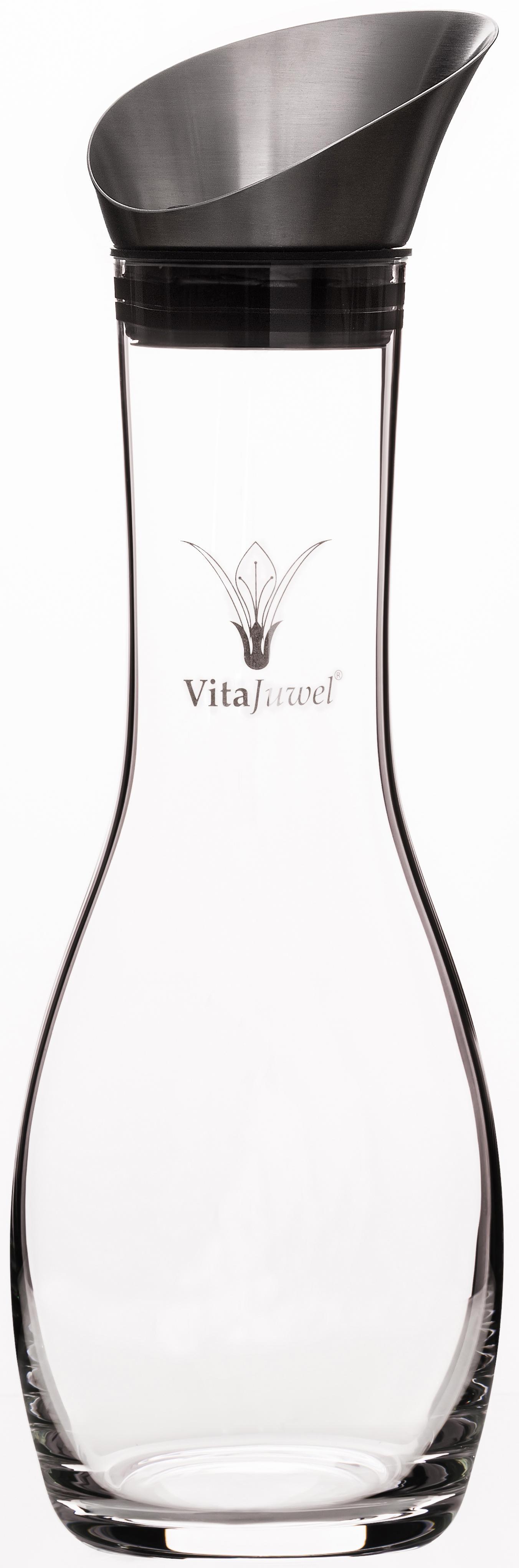 VitaJuwel Karaffe, 1,3 Liter farblos Karaffen Gläser Glaswaren Haushaltswaren Karaffe