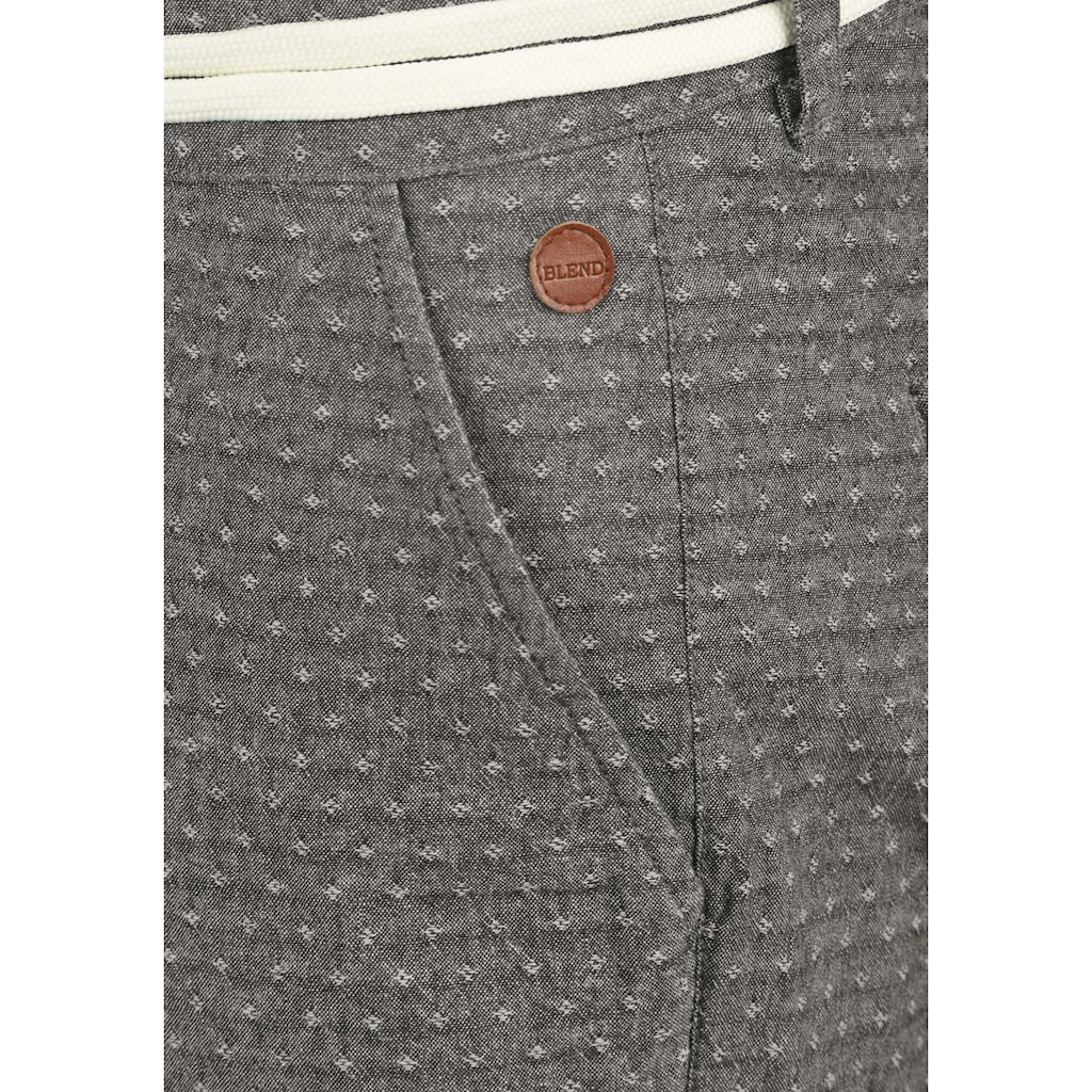 Blend Chinoshorts »Serge«, (mit abnehmbarem Gürtel), kurze Hose mit Muster