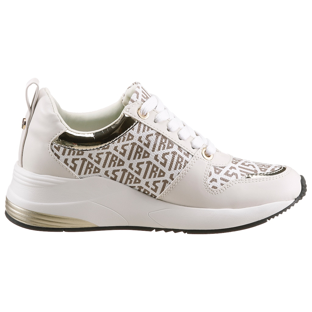 La Strada Wedgesneaker »Fashion Sneaker On Wedge«, mit Allover-Logodruck