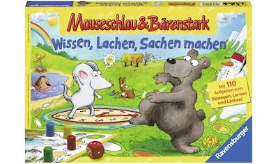 Ravensburger Spiel »Mauseschlau & Bärenstark Wissen, Lachen, Sachen machen«, Made in Europe, FSC® - schützt Wald - weltweit kaufen