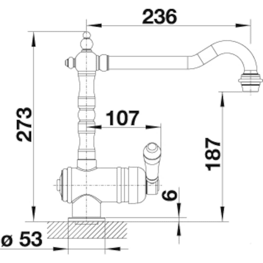 Blanco Küchenarmatur »TRADON«, Hochdruck, passend zum aktuellen Landhausstil
