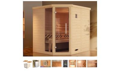 WEKA Sauna »Brevik 1«, 195x195x199 cm, 7,5 kW Ofen mit ext. Steuerung, Fenster kaufen