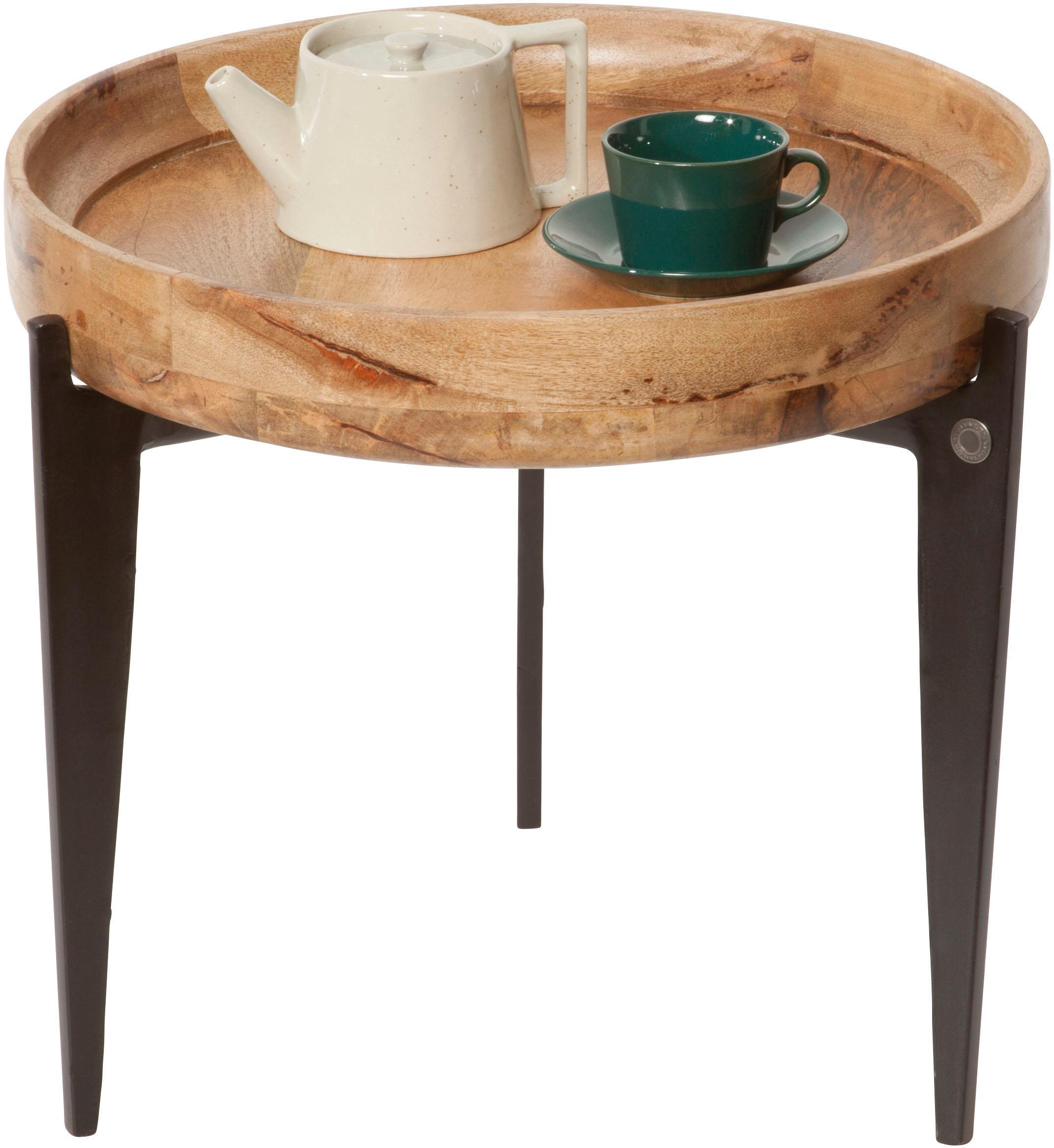 TOM TAILOR Beistelltisch T-TRAY TABLE SMALL, mit Tablett, rund, ø 46 cm orange Beistelltische Tische
