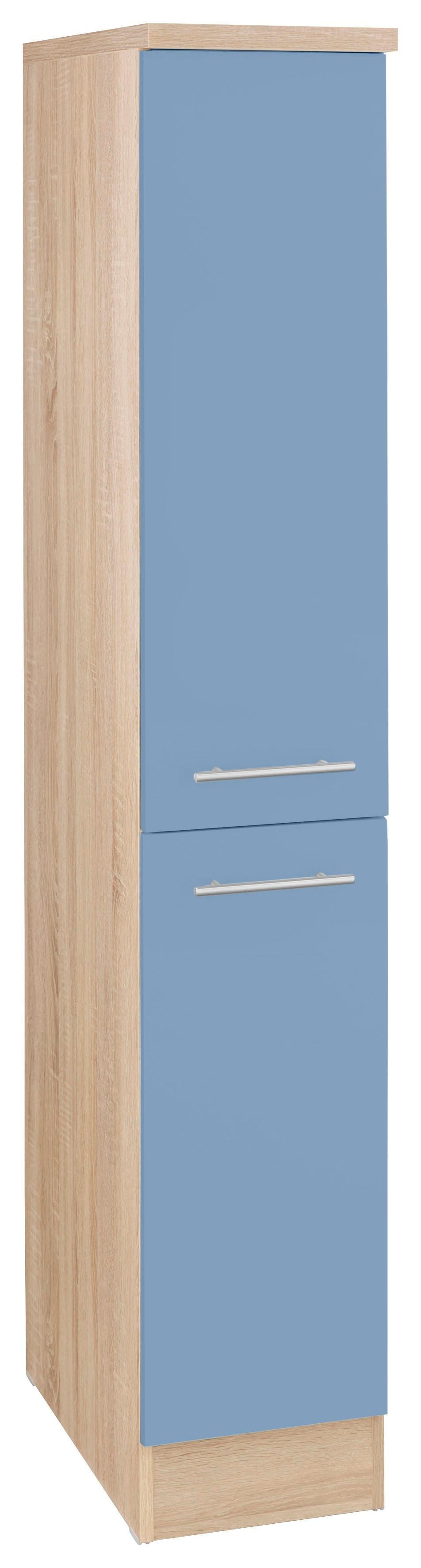 OPTIFIT Midi-Apothekerschrank Kalmar   Küche und Esszimmer > Küchenschränke > Apothekerschränke   Blau   Nachbildung - Edelstahl - Eiche - Melamin   Optifit