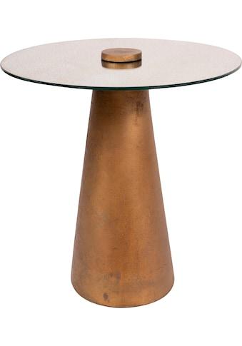 Kayoom Beistelltisch »Beistelltisch Scotch 125 Messing«, Glas-Tischplatte kaufen