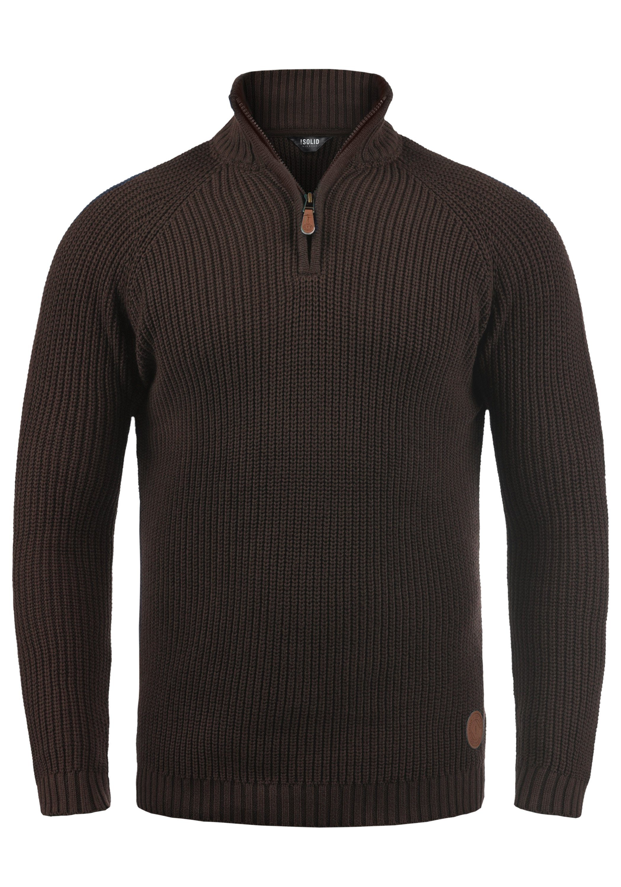 Solid Troyer Xenox | Bekleidung > Pullover > Troyer | Braun | Solid