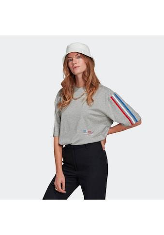 adidas Originals T-Shirt »ADICOLOR TRICOLOR OVERSIZE« kaufen