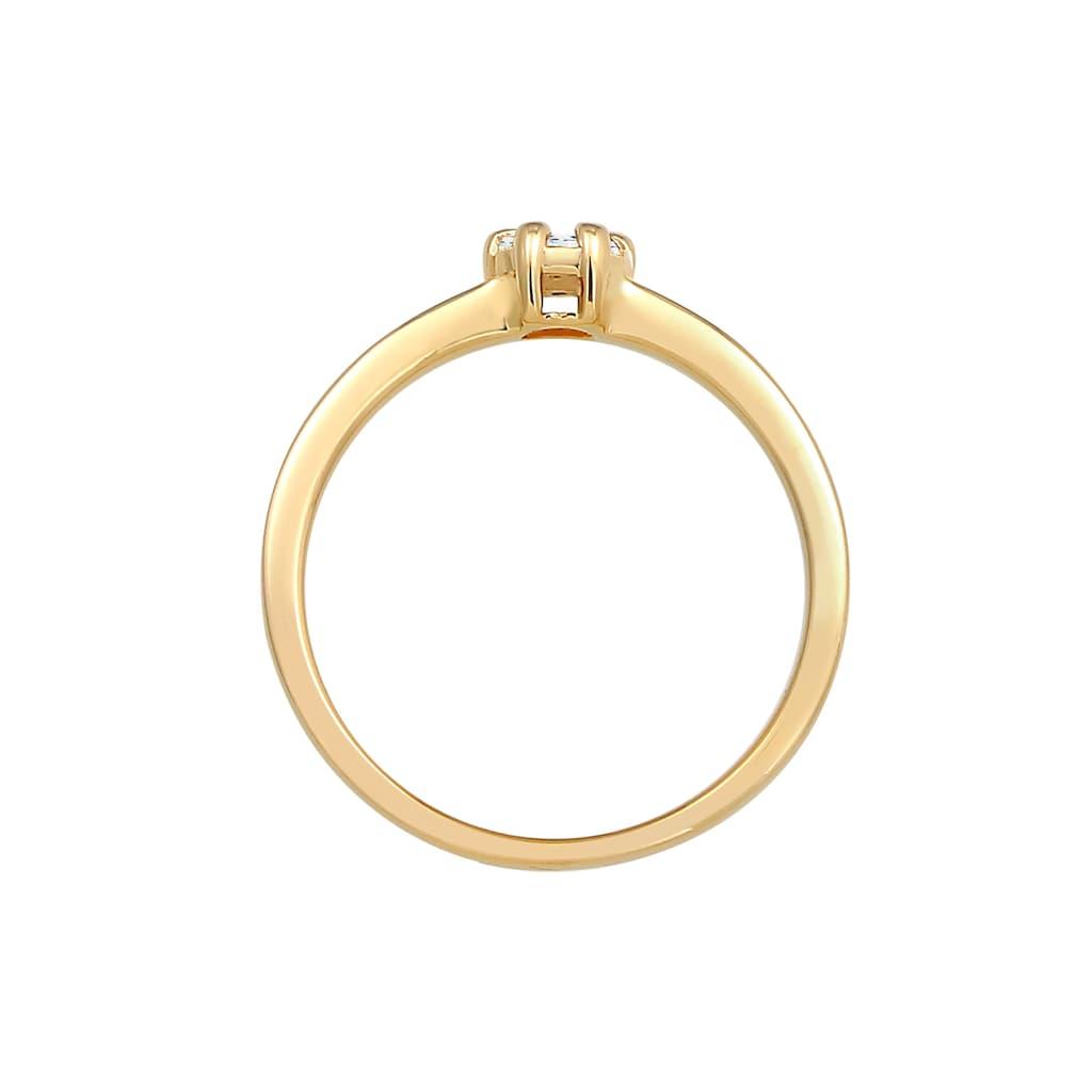 Diamore Diamantring »Blume Verlobung Diamant (0.12 ct.) 585 Gelbgold«