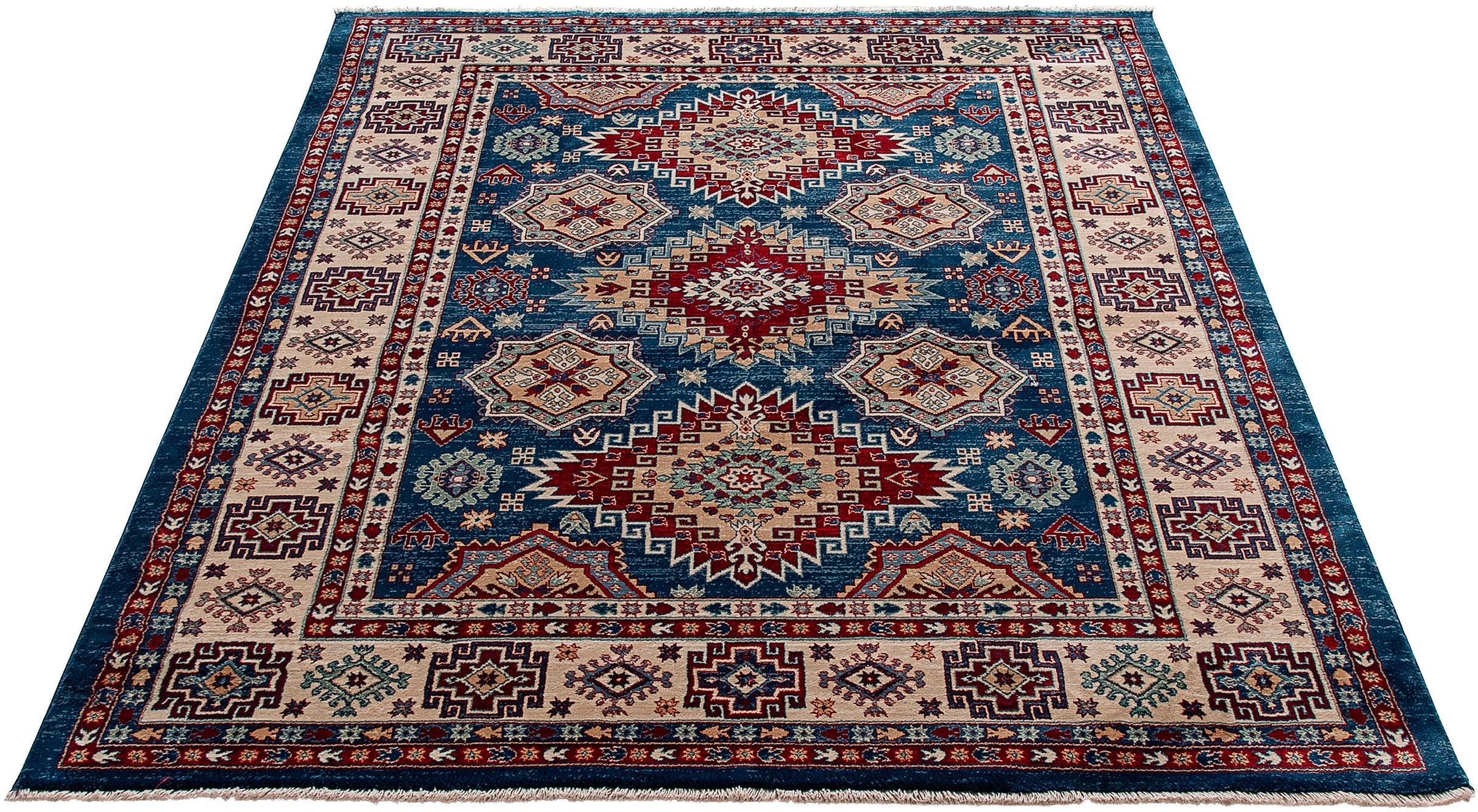 Teppich Ornament 1354 Sehrazat rechteckig Höhe 10 mm maschinell gewebt