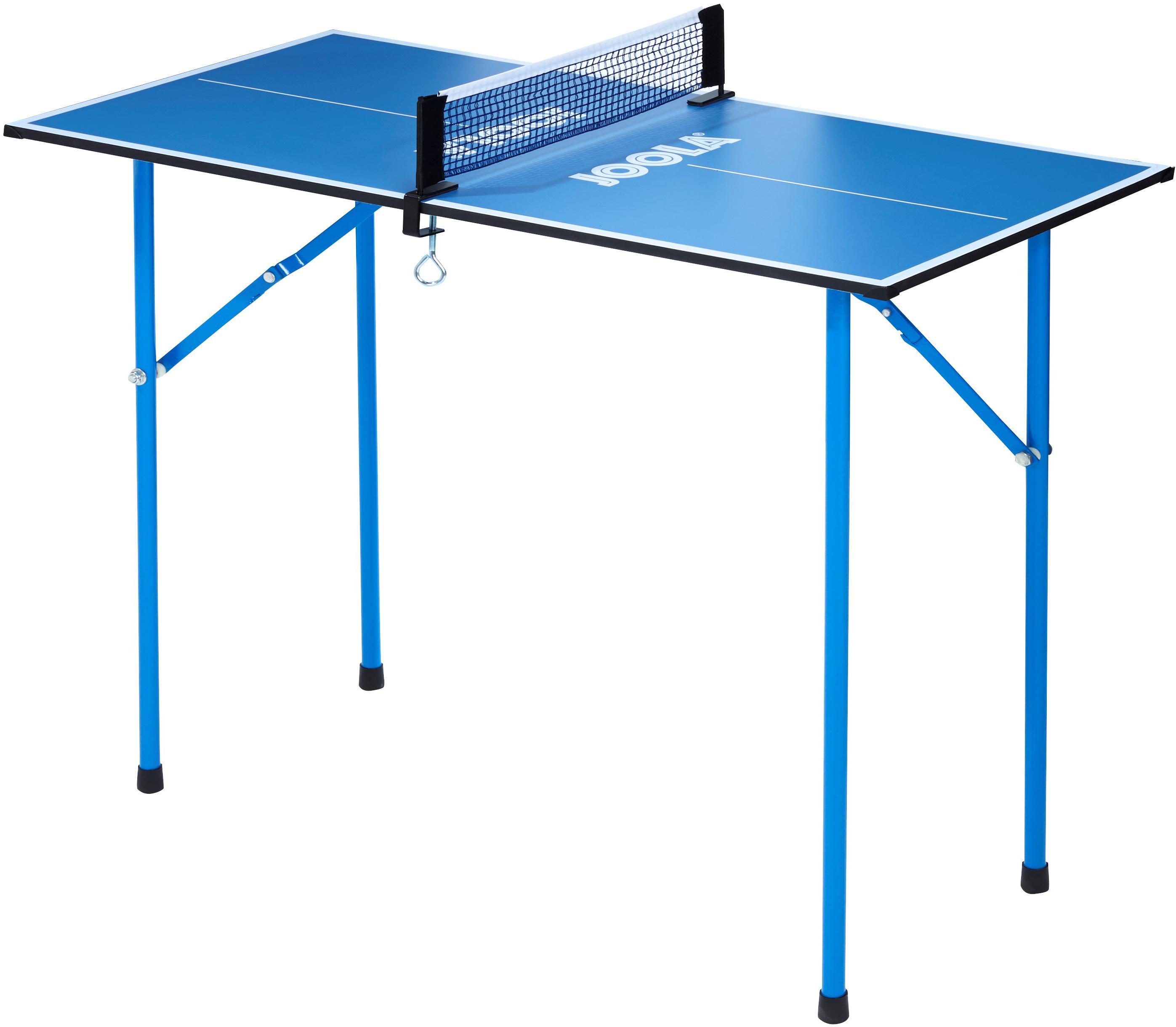 Joola Mini-Tischtennisplatte Mini, (2 tlg.), Das Netz ist im Lieferumfang enthalten blau Tischtennis-Ausrüstung Tischtennis Sportarten