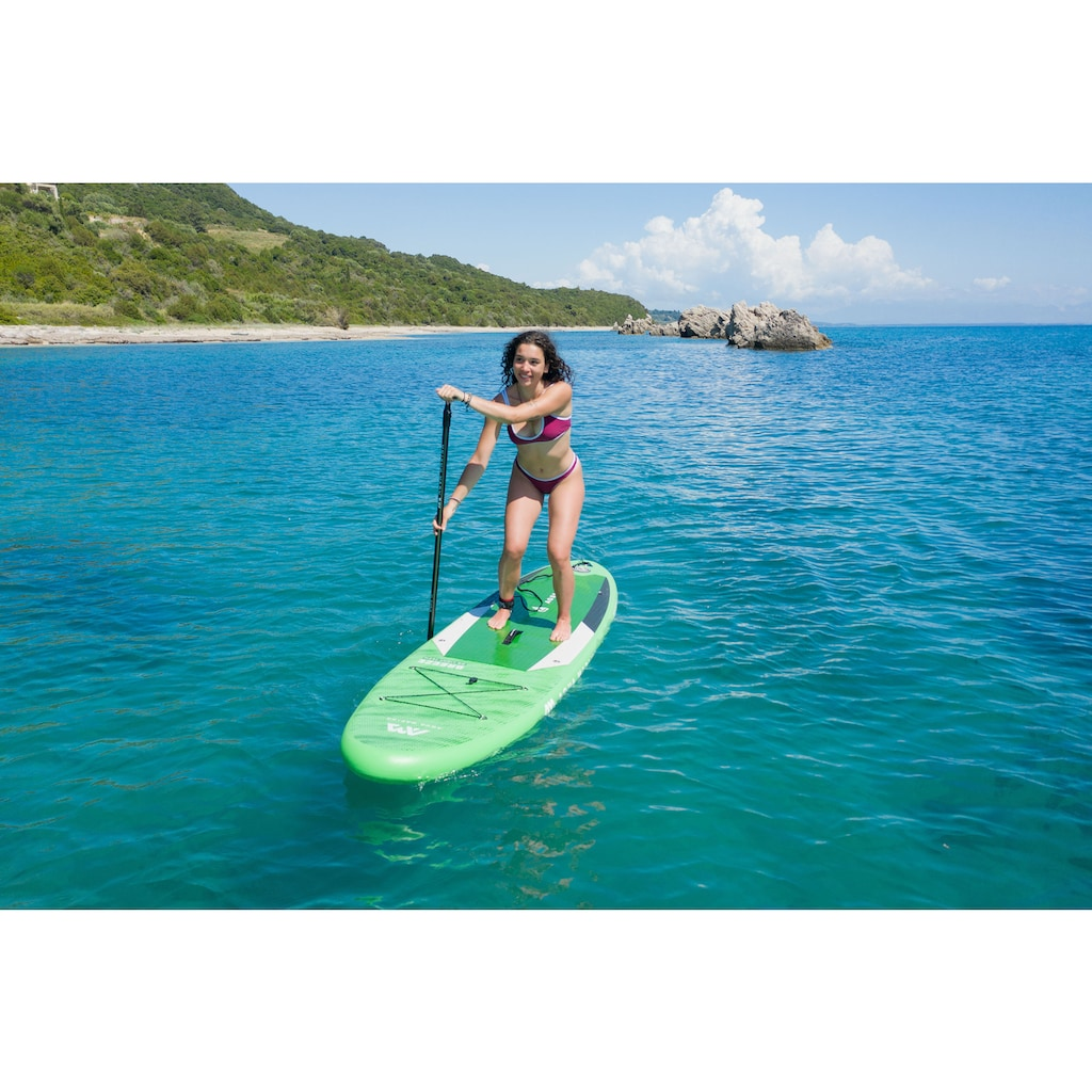 Aqua Marina Inflatable SUP-Board »Breeze iSUP BT-21BRP«, (Set, 6 tlg., mit Paddel, Pumpe und Transportrucksack)