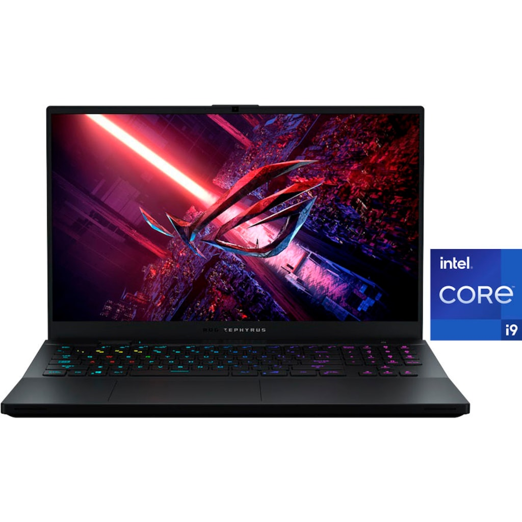 "Asus Gaming-Notebook »GX703HS-KF079T«, (43,94 cm/17,3 "" Intel Core i9 GeForce RTX™ 3080\r\n 3000 GB SSD), Kostenloses Upgrade auf Windows 11, sobald verfügbar"