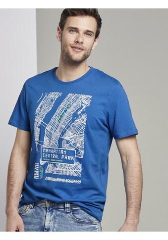 TOM TAILOR T-Shirt »T-Shirt mit NYC-Print« kaufen