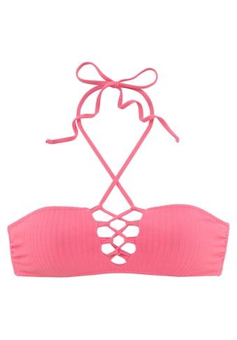 LASCANA Bandeau - Bikini - Top »Rippe« kaufen