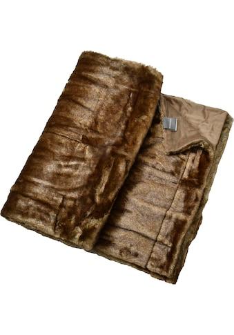 Schiesser Wohndecke »Fake Fur«, mit Wendeoptik kaufen