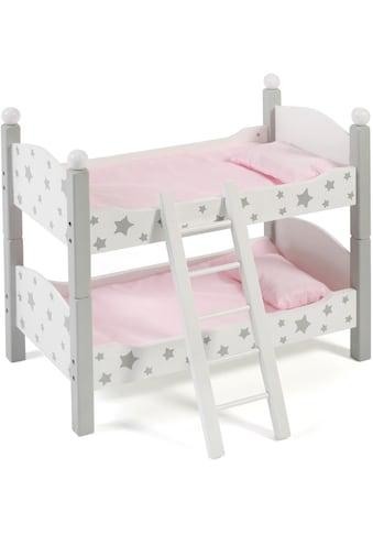 CHIC2000 Puppenbett »Stars Grau«, auch als zwei Einzelbetten verwendbar kaufen