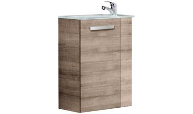 FACKELMANN Waschtisch »A - VERO«, Mini - Gäste - WC - Lösung, Breite 45 cm, Tiefe 25 cm (2 - tlg.) kaufen