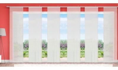 HOME WOHNIDEEN Schiebegardine »LUKKI«, HxB: 245x60, inkl. Befestigungszubehör kaufen