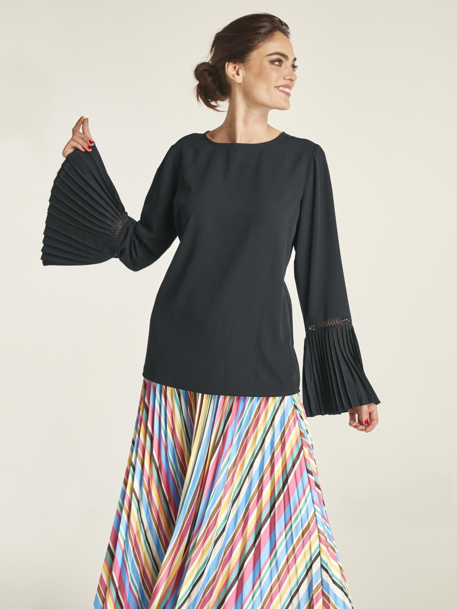 heine TIMELESS Bluse mit attraktiver Ärmellösung