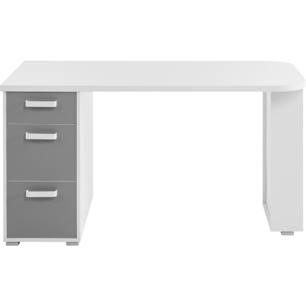 Begabino Schreibtisch »Yoris«, mit 3 Schubkästen und seitlichen Fächern