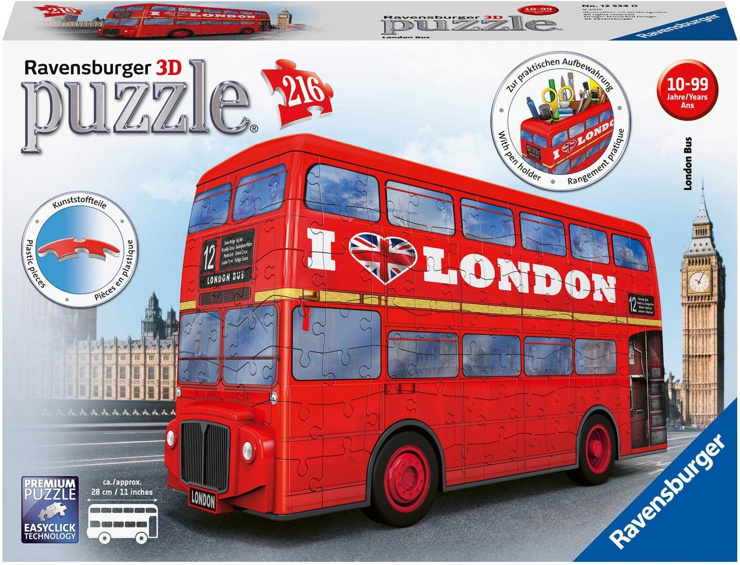 """Ravensburger 3D-Puzzle """"London Bus"""" Technik & Freizeit/Spielzeug/Gesellschaftsspiele/Puzzle/3D Puzzle"""