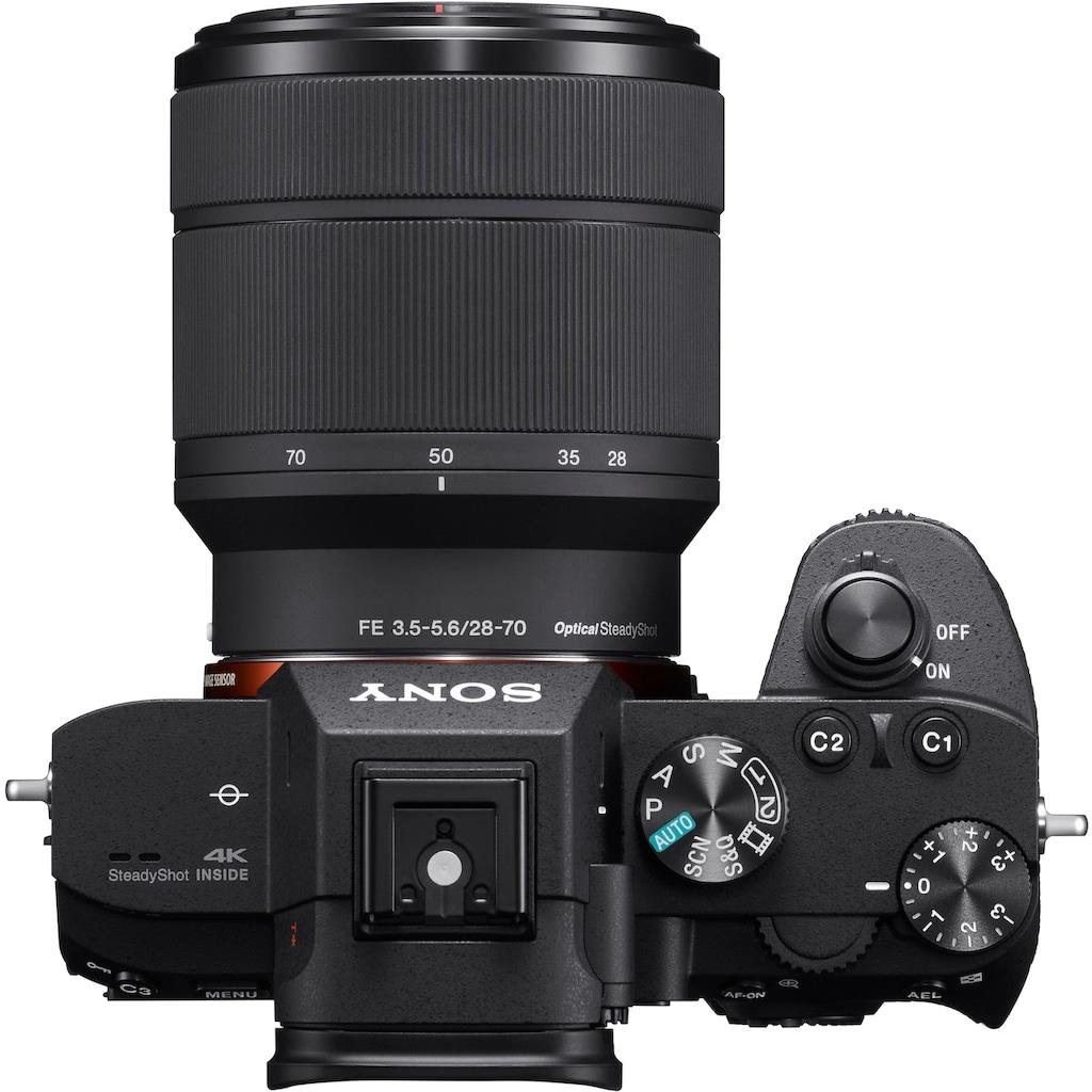 Sony Systemkamera »Alpha 7 III ILCE-7M3KB«, SEL-2870, WLAN (Wi-Fi)-NFC