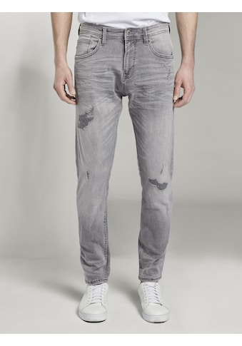 TOM TAILOR Denim Tapered - fit - Jeans »Tapered Conroy Stretch Jeans mit Destroys« kaufen
