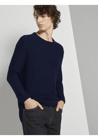 TOM TAILOR Denim Longpullover »Langer Pullover mit Struktur« kaufen
