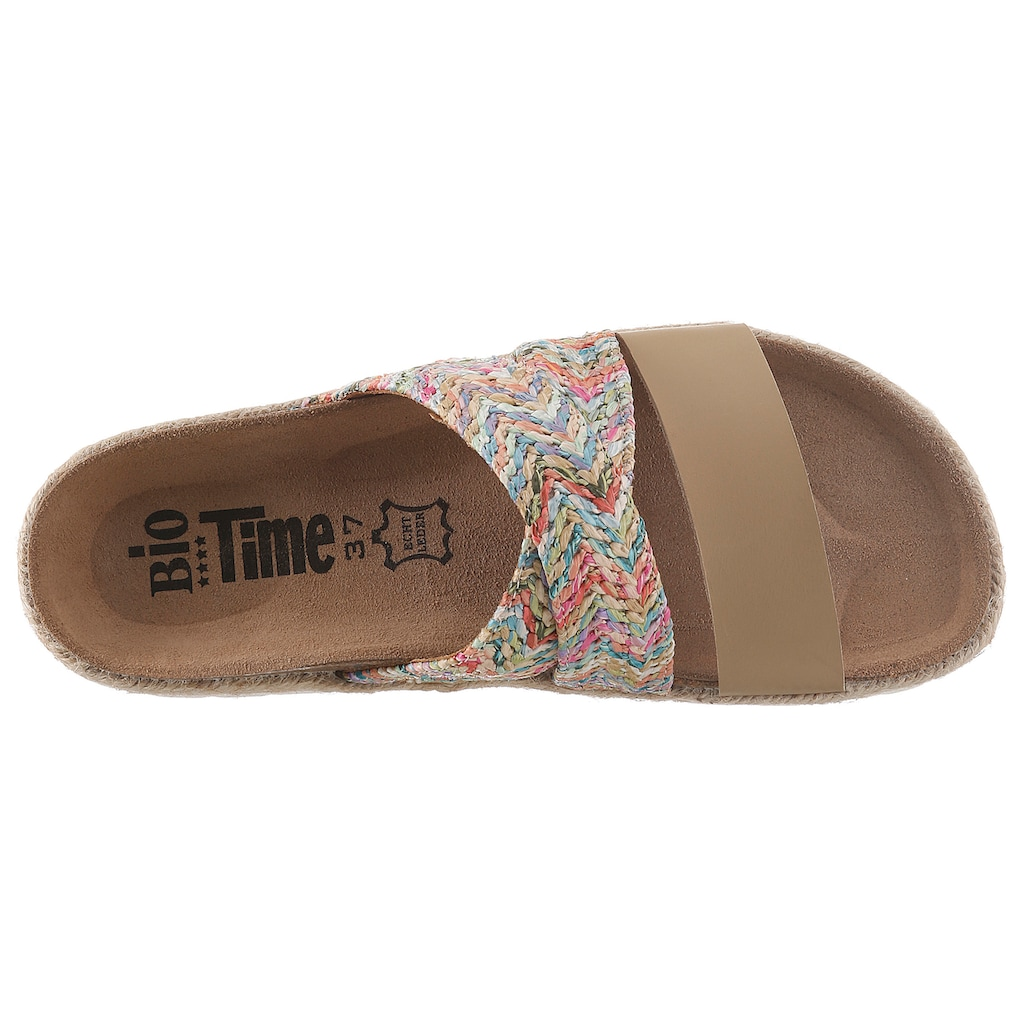 Bio Time Pantolette, mit ergonomisch geformtem Fußbett