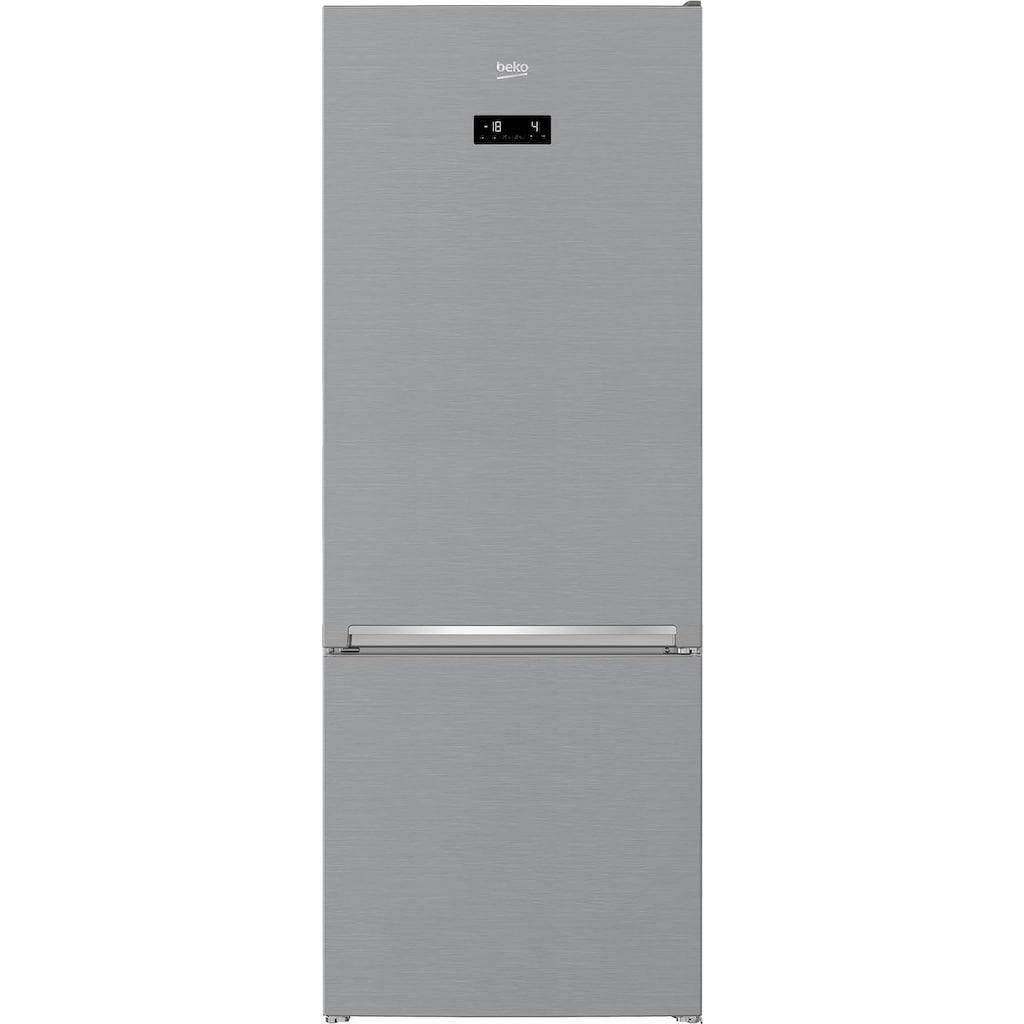 BEKO Kühl-/Gefrierkombination »RCNE560E40ZXBN«, RCNE560E40ZXBN, 192 cm hoch, 70 cm breit
