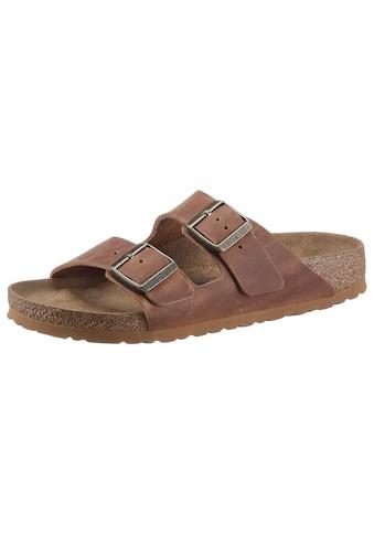 Birkenstock Pantolette »Arizona FL«, mit Korkfußbett, schmale Schuhweite kaufen