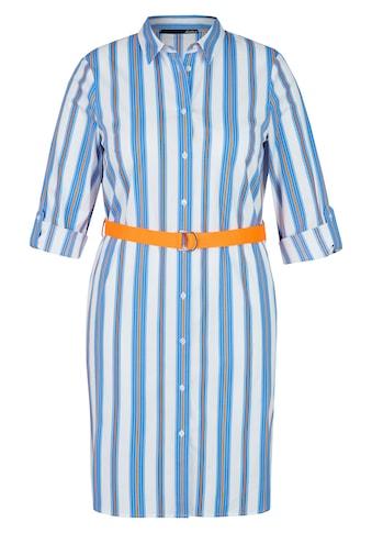 LeComte Kleid mit Streifendesign und Gürtel kaufen