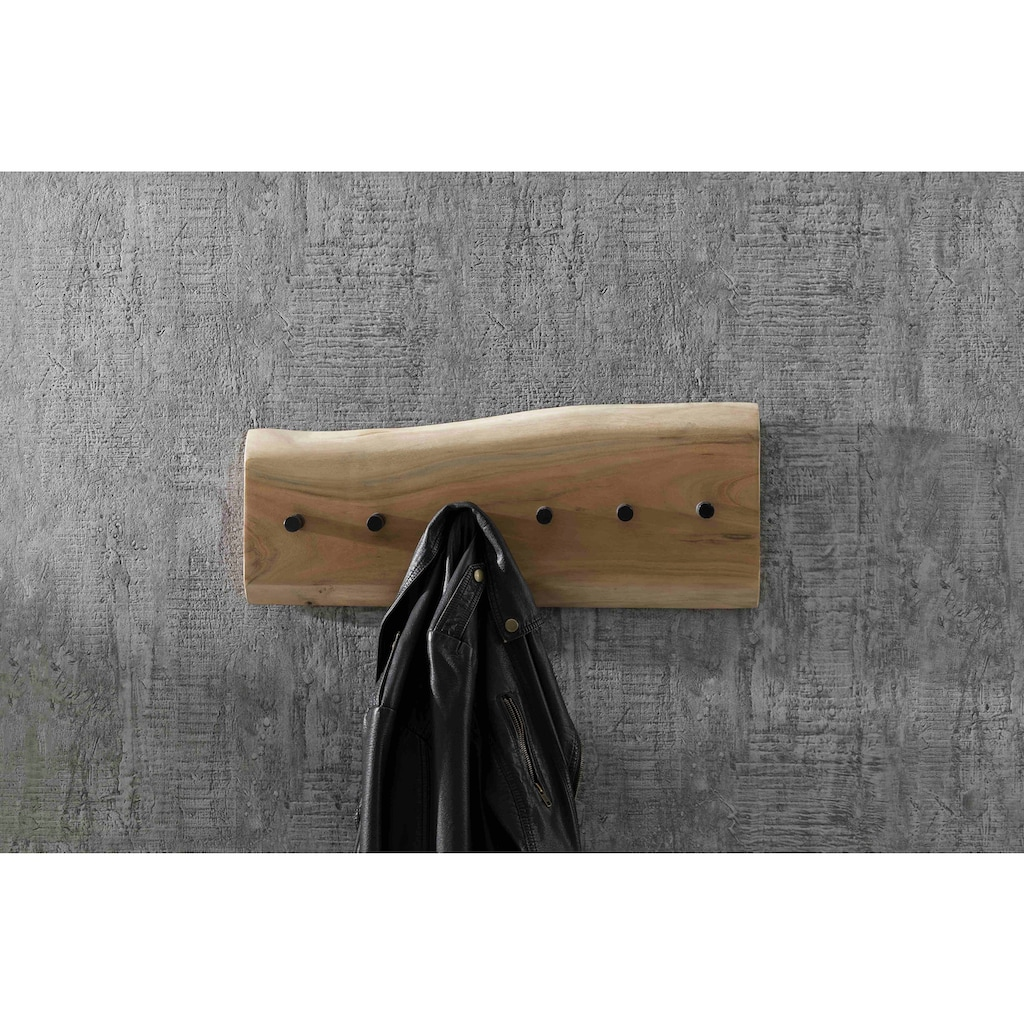 SIT Garderobenpaneel, mit Baumkante, aus Massivholz Akazie