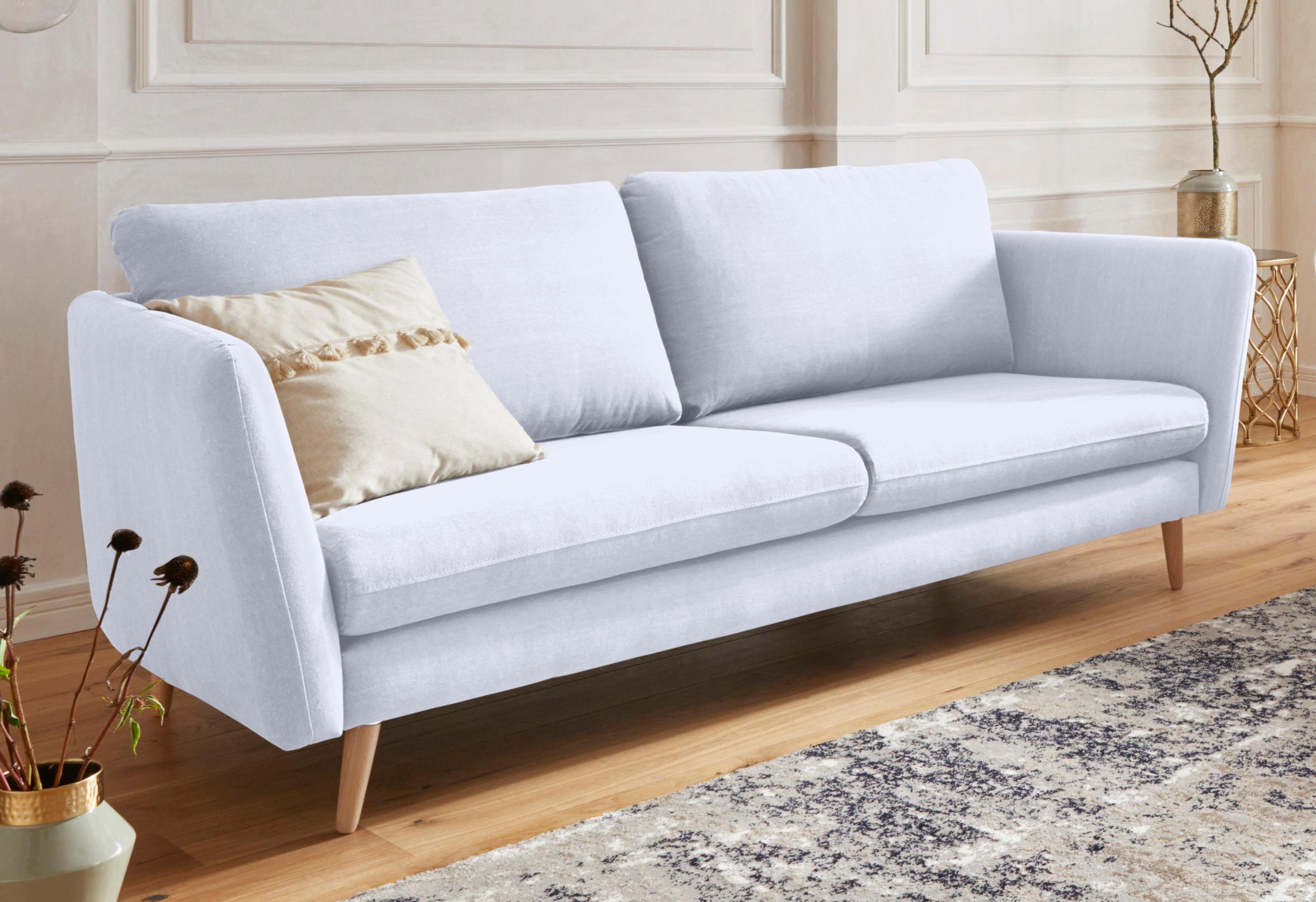 GMK Home & Living 3-Sitzer »Cergy« in skandinavischem Stil, mit Beinen aus Eiche