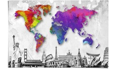 Reinders! Poster »Reiseziele Rund um die Welt«, (1 St.) kaufen