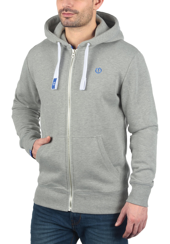 Solid Kapuzensweatjacke BennZip   Bekleidung > Sweatshirts & -jacken > Sweatjacken   Grau   Fleece   Solid