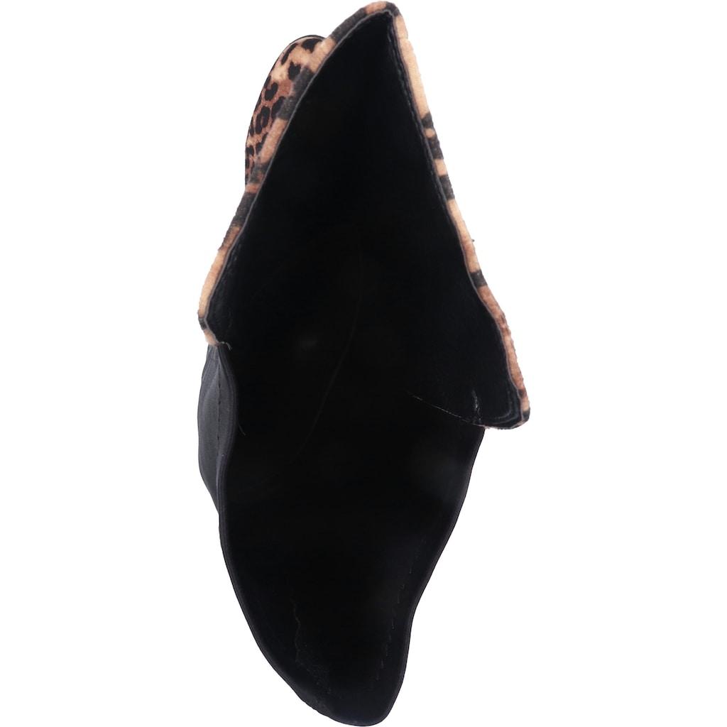 Buffalo Overkneestiefel »Velourleder/Textil«