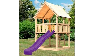 ABUKI Spielturm »Lenie«, BxTxH: 200x200x345 cm, mit Rutsche, Sandkasten, Leiter kaufen