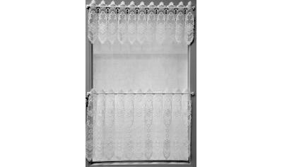 Stickereien Plauen Scheibengardine »Blumenpanneau«, mit echter Plauener Spitze Stickerei kaufen