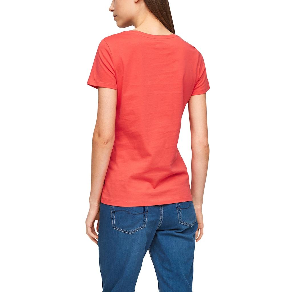 Q/S by s.Oliver T-Shirt, mit trendy V-Ausschnitt