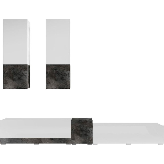 TRENDMANUFAKTUR Wohnwand »Power« (5-tlg)