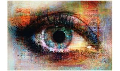 Art & Pleasure Metallbild »The eye«, Menschen kaufen