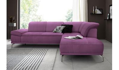 Places of Style Ecksofa »Caluna«, mit Sitztiefen- und Kopfteilverstellung (5fach) kaufen