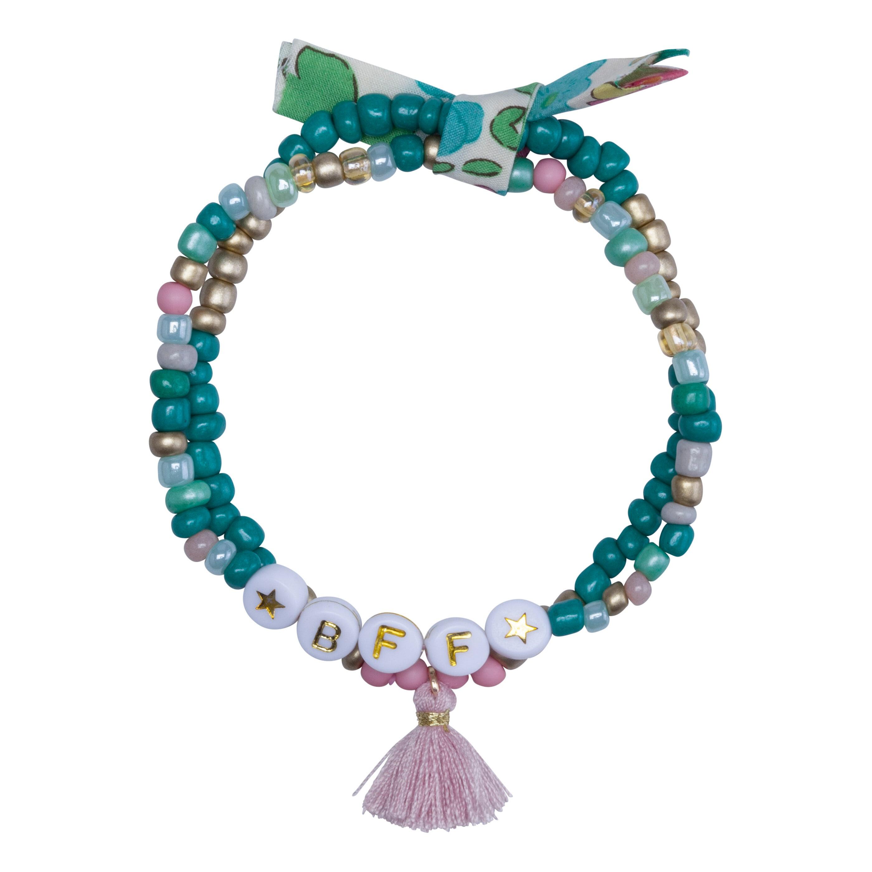 Codello Perlenarmband, mit Mini-Quaste grün Damen Perlenarmband